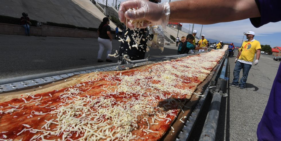 Pizza più lunga del mondo in California